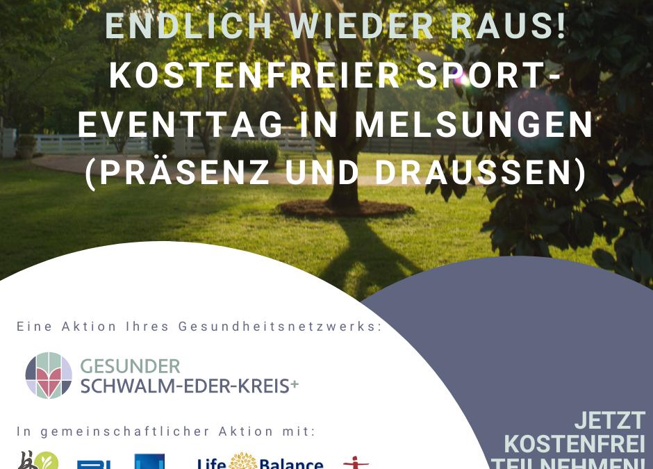 Endlich wieder raus! Kostenfreier Sport-Eventtag am 04. September in Melsungen
